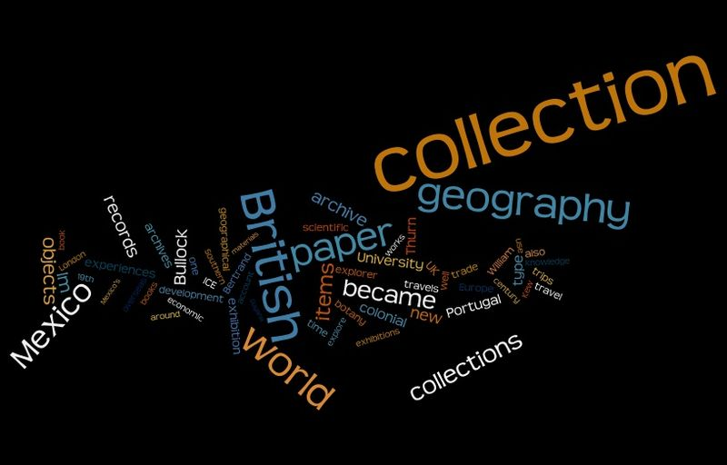 Geographies of Collections (Wordle)